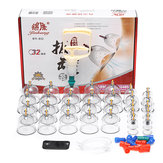 32 stks Chinese Cupping Vacuüm Cup Massage Set Therapie Gezondheid Acupunctuur Kit
