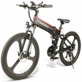 Direto da UE SAMEBIKE LO26 10.4Ah 48 V 350 W Ciclomotor Bicicleta Elétrica 26 Polegadas Inteligente bicicleta Dobrável 35 km / h Max Velocidade 80 km Quilometragem Carga Máxima 150 kg Com Plug UE
