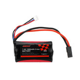 SUBOTECH 18650 7.4V 1500mAh 20C 2S Li-ion Battery for BG1513 BG1515 BG1518 RC Vehicles Model