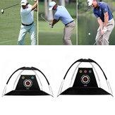 2 M / 3M Golf Pratik Sürüş Kafes Uygulama Hit Net Outdoor Kapalı Golf Hitting Net Eğitmen Kesme Delik Ile Yardım