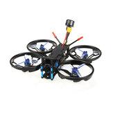 HGLRC Sector132 132mm F4 Zeus 3-4S FPV Racing Drone PNP BNF com Caddx Baby Turtle V2 1080P Câmera
