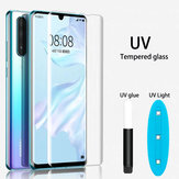 Bakeey UV Liquid Full Glue Cover Clear Curved Anti-Explosion Soft Tempered Glass Screen Protector For Huawei P30 PRO