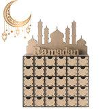 Ramadan Adventskalender DIY Haus Schublade 30 Grids MDF Ständer Rack Dekorationen