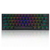FEKER 61 Tasten Mechanische Gaming-Tastatur 60% NKRO Bluetooth 5.0 Type-C Gateron Switch PBT Double Shot Tastaturkappe RGB-Tastatur