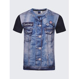 Fashion Creative 3D Denim Jacket T-shirty z nadrukiem