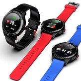 [ECG-monitor] Microwear L9 Volledig rond touchscreen Roestvrij stalen ring Hartslag SpO2-monitor IP68 Waterdicht Berichtenweergave Zakelijk Smart Watch