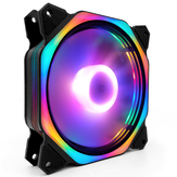 Coolmoon 120mm Ajustável RGB LED Luz CPU Cooler Fan Mute Octagon Computador PC Caso Cooling Fan
