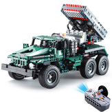 CaDA C61001 C61002 1/20 2.4G DIY Building Block BM21 Rocket Launcher RC Voiture M1A2 Réservoir sans Batterie