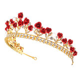 Rose Crystal Rhinestone bruids Tiara bruiloft sieraden Princess Crown Prom Hair Tiara