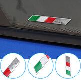 アルミカーデカールステッカーイタリア国旗フェンダー/トランクエンブレムバッジフィットアルファロメオフィアット