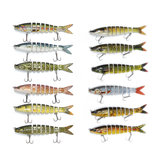 ZANLURE 6PC Fishing Lure 8 Segments Hard Bait 13cm/19g Artificial Lifelike Swimbait with Hook Pike