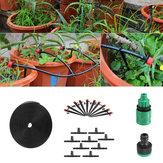 22Pcs/Set 5m Hose Outdoor Mist Coolant System Automatic Sprayer Plant Watering Sprinkler Quick Connector Nozzles Kits Drip DIY Garden Irrigation System