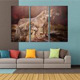 Miico Handgemalte Drei Kombination Dekorative Gemälde Drei Hunde Wandkunst Für Hauptdekoration