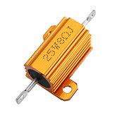 20pcs RX24 25W 8R 8RJ Metal Aluminum Case High Power Resistor Golden Metal Shell Case Heatsink Resistance Resistor