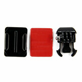 Mount Helmet Curved Sticker Buckle Basic Mount untuk Gopro Hero 8 7 6 5 4 3 3 Plus 2 1 SJcam Yi Action Camera