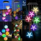Solar Powered Wind Chimes Color Changing LED Light Home Garden Yard Decor Lamp