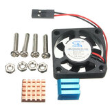 Copper Aluminium Heatsink Fan Cooling Kit for Raspberry Pi 2/B+