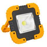 ポータブル50W 1000LMソーラーLEDワークライトCOBキャンプランプUSB充電式フラッドスポットランプハンドライト