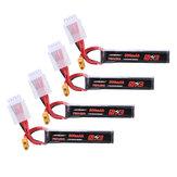 4個URUAV 15.2V 300mAh 70C / 140C 4S LipoバッテリーXT30 RC FPVレーシングドローン用プラグ