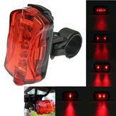 BIKIGHT 5 LED 7 Modes Bike Tail Light Cycling Bicycle Rear Lamp Night Safety Warning Lantern