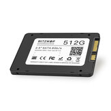 BlitzWolf® BW-SSD3 512 GB 2,5 inch SATA3 6 Gbps Solid State Disk TLC-chip Interne harde schijf voor SATA pc's en laptops met R / W op 530/450 MB / s