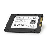 BlitzWolf® BW-SSD3 Disco rígido de estado sólido SATA3 de 6 Gbps e disco rígido TLC de 512 GB de 2,5 polegadas para PCs e laptops SATA com R / W em 530/450 MB / s