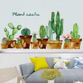 FX82119 dessin animé vert Cactus mur autocollant Art pépinière chambre d'enfants décoration décor à la maison