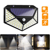 100 LED Solar Powered PIR Motion Sensor Street Wall Light al aire libre Security Lámpara