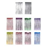 1 x 2M Metallic Foil Fringe Door Curtains Party/Christmas/Birthday/Wedding Photo Booth Props Backdrop Decor
