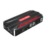 16800mAh 12V Coche Jump Starter Litio recargable Batería Booster Power Bank 4USB Multifunción