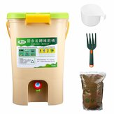 21L Kitchen Food Waste Recycle Composter Aerated Compost Waste Bins Bokashi Bucket
