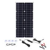 100W 18V أحادية الألواح الشمسية USB 12V / 5V تيار منتظم أحادي البلورية مرنة للطاقة الشمسية شاحن للسيارة RV قارب البطارية شاحن ضد للماء