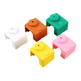5Pcs PT100 V6 Silicone Case for Hotend Heating Blocks Orange/Pink/Coffee/Green/White 5 Color for 3D Printer