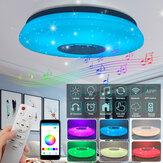 Nowoczesna lampa sufitowa LED Bluetooth Głośnik muzyczny RGB APP Lampa zdalnego sterowania