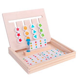 Baby Hand Grab Board Wooden Four-color Kids Puzzle Game Mongolian Early Education Toys Gift