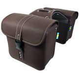 Pair PU Leather Motorcycle Saddlebags Side Luggage Tool Storage Bag For Harley