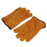 Garden Gardening Welder Gloves Men Women Thorn Proof Leather Work Gloves Yellow
