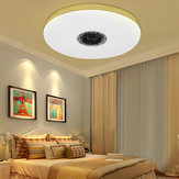 60W Dimmable LED RGBW bluetooth Music Speaker Ceiling Light APP Remote Bedroom