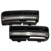 Pair Car Front Lower Bumper Grille Grill LED Daytime Running Driving Fog Lights for VW Golf MK4 1998-2004