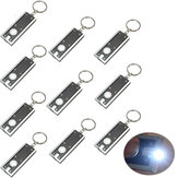 MECO 10 pcs Mini Flashlight LED Camping Keyring Flashlight Keychain Flashlight