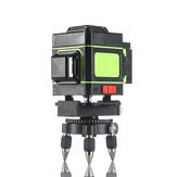 12個のGreeen Linesレーザーレベル測定装置ベース付き360度回転水平および垂直クロスレーザーレベル