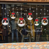 Miico XL628 Christmas Sticker Home Decoration Sticker Window and Wall Sticker Shop Decorative Stickers
