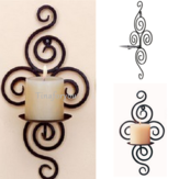 Iron Scroll Candle Holder Candlestick Wall Hanging Sconce Wedding Home Decorations