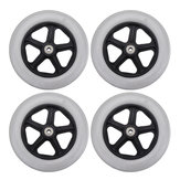 4Pcs Caster Wheel With Bearing for Rollator Walker Replacement Parts Furniture Hardware Wheels