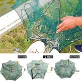 8/12/16 Holes Automatic Fishing Net Shrimp Cage Nylon Foldable Crab Fish Trap