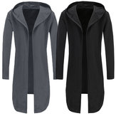 Men's Full Sleeve Cloak Poncho Trench Coat Jacket Outwear Overcoat Cape Cardigan