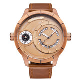 OULM HP6032 Big Dial Creative Leather Band Men Wrist Watch