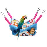 Pet Hamster Birds Hammock Double Layer Squirrel Hanging Bed House Cute Mezzanine Hanging Bed