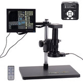 HAYEAR 41MP HD USB Digital Industry Video Microscope Camera Set with Big Boom Stereo Table Stand