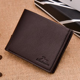Herren Casual Kunstleder Geldbörse Short Leisure Wallet Card Hol